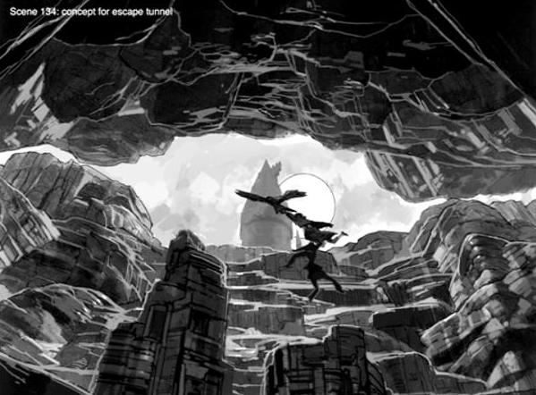 Escape Tunnel (Concept Artwork for the HP2 movie 01).JPG