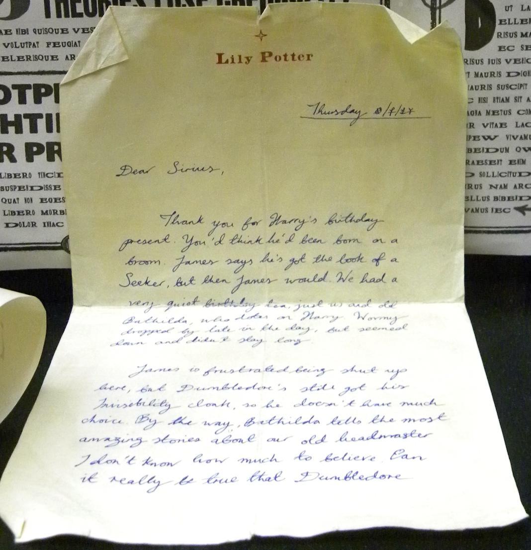 莉莉·伊万斯给小天狼星·布莱克的信