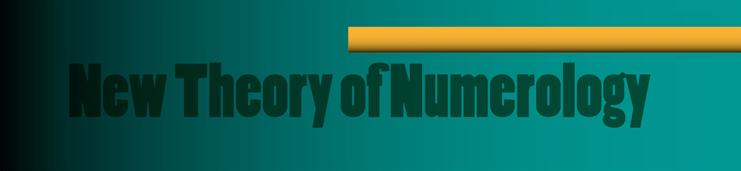 Nouvelle Théorie de la numérologie