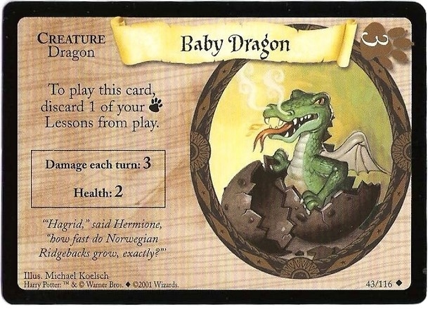 Baby Dragon (Trading Card)