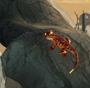 Fire Salamander at the Magical Creatures Reserve
