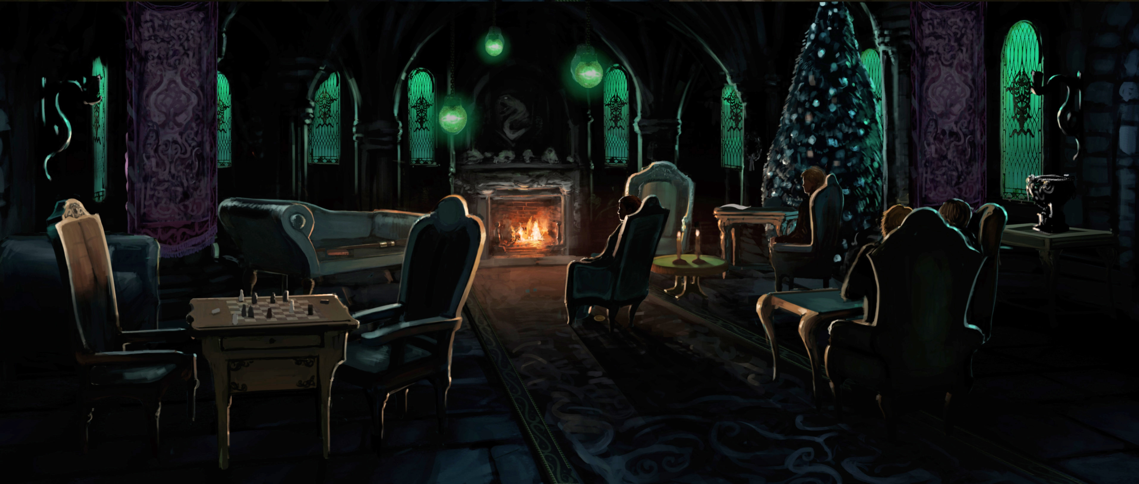 Slytherin Common Room Harry Potter Wiki Fandom