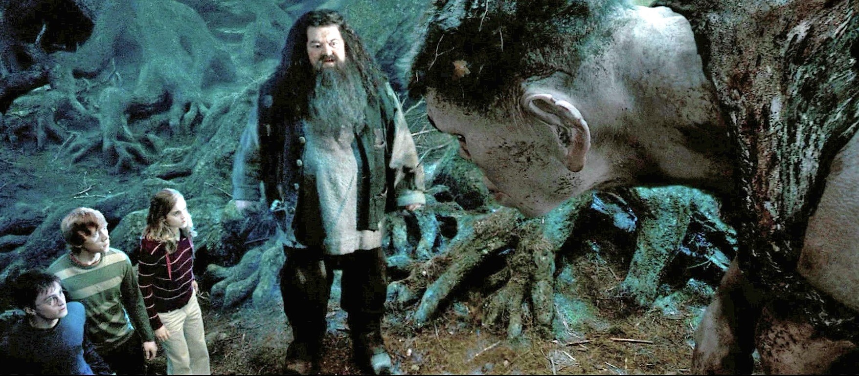 Hagrid introduces the trio to Grawp.jpg
