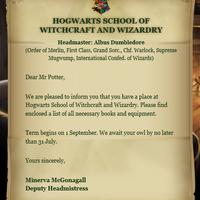 Hogwarts Acceptance Letter Harry Potter Wiki Fandom