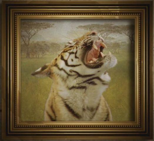 Gemälde eines Tigers
