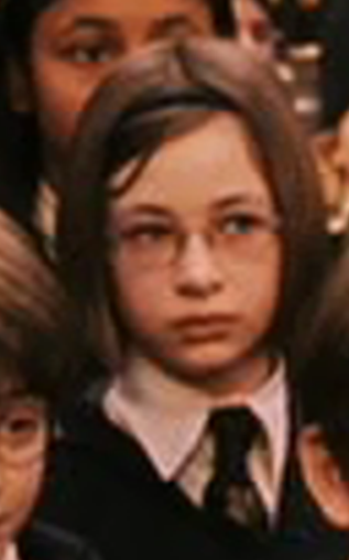 Bespectacled Slytherin girl