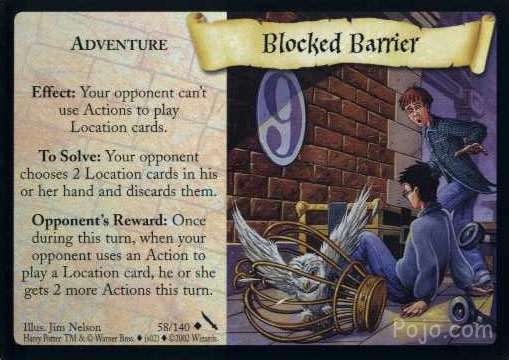 Blocked Barrier (Trading Card)
