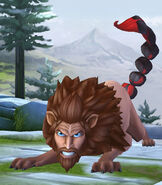 Manticore at the Magical Creatures Reserve