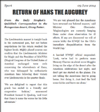 Return of Hans the Augurey (Evening Prophet)