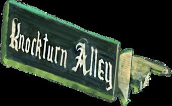 Pointing Doigt Harry Potter Knockturn Alley bois 75 cm Display Road Street Sign