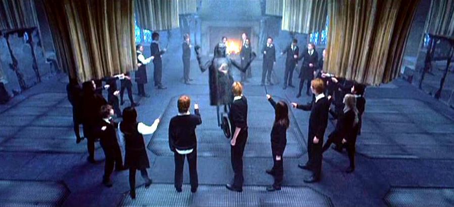 Dumbledore's Army in circle.JPG