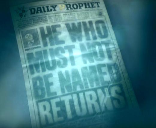 Daily Prophet Voldemort Returns.JPG