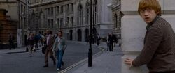 Ron Weasley in the Muggle street of London.JPG