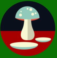Dinner plate to mushroom spell