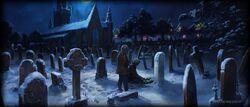 Гарри и Гермиона на кладбище (Pottermore)