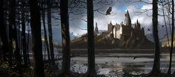 HogwartsCastle WB F4 HogwartsThroughTheTrees Illust 100615 Land.jpg