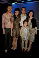 Льюнг с семьей на афтерпати в Лондоне 3.07.07
