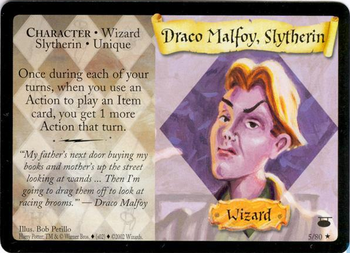 Draco Malfoy, Slytherin (karta)