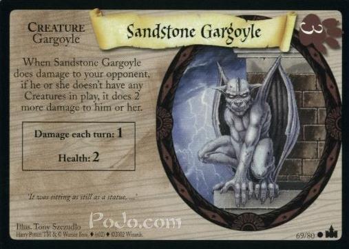 Gargulec z piaskowca (karta)