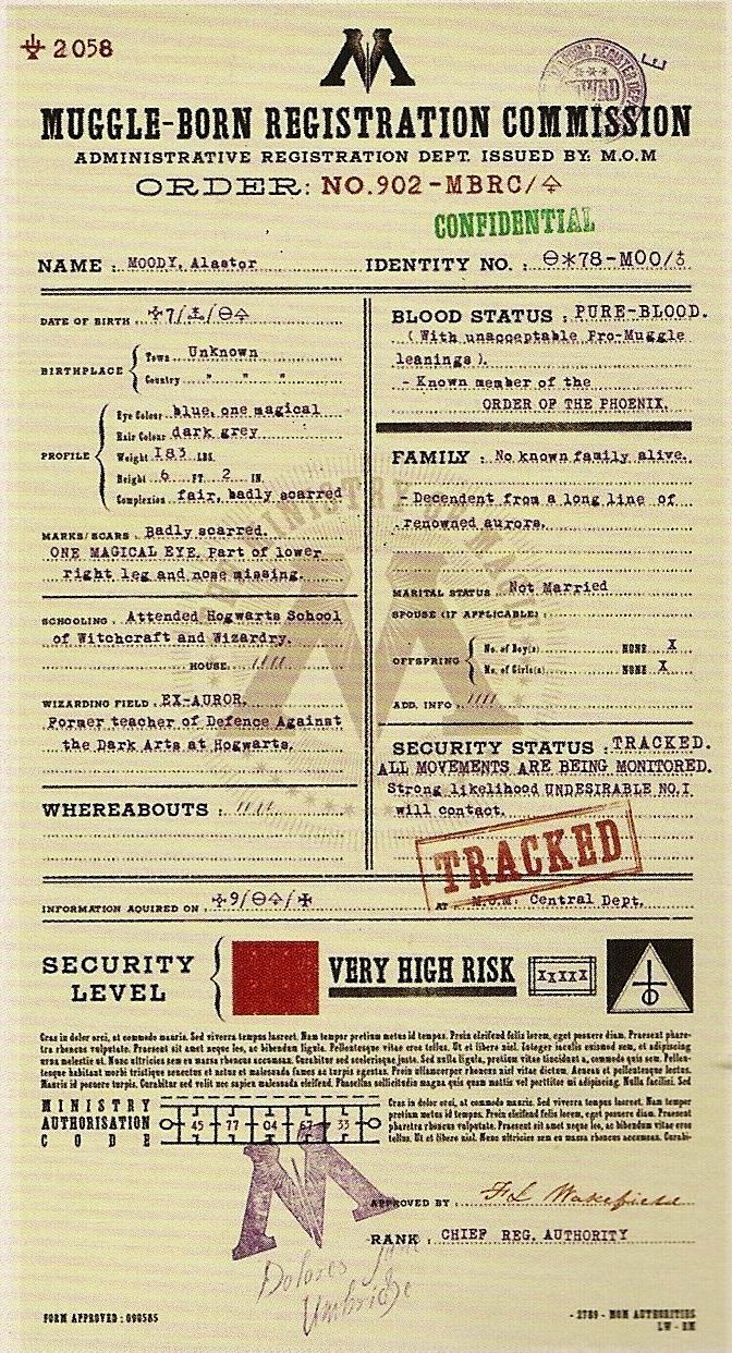 Alastor Moody's file