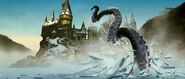 The Giant Squid at the Hogwarts Lake (Concept Artwork for the HP4 film)