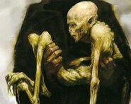 Voldemort's rudimentary body (concept artwork for HP4 movie)