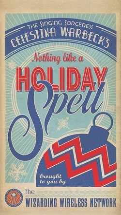 Celestina Warbeck Holiday album NOTHING LIKE A HOLIDAY SPELL poster.jpg