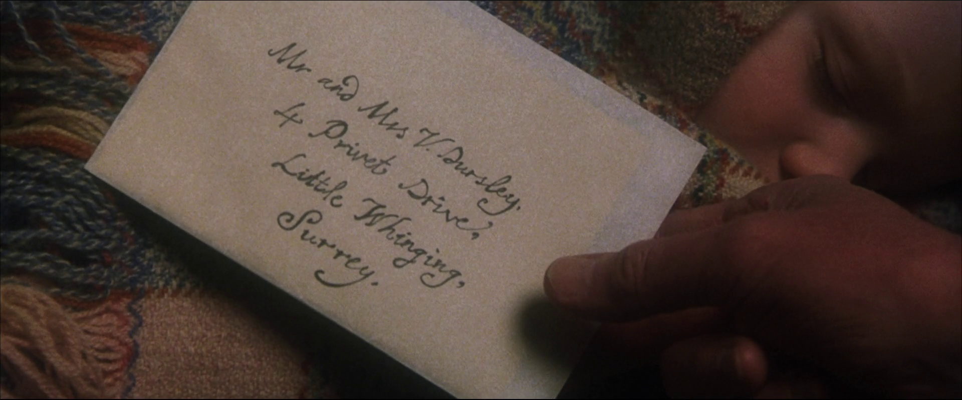 Albus Dumbledore's letter to Petunia Dursley
