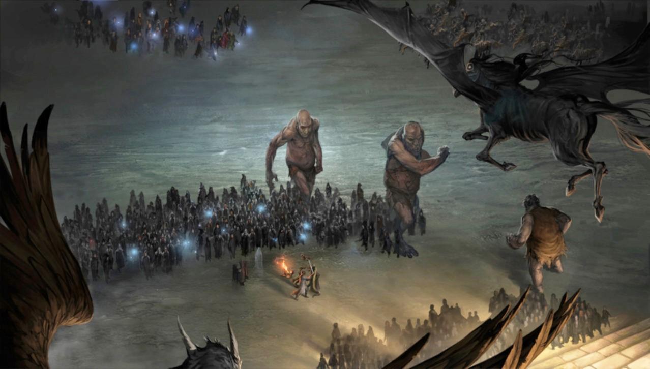 Hogwarts Big Battle at Hogwarts Moment Pottermore.jpg