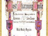 Witch Weekly's Most Charming Smile Award