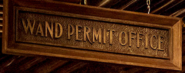 Wand Permit Office sign FB-F