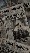 Daily Prophet - Gryffindor wins the House Cup - PAS