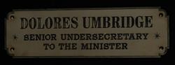 Dolores Umbridge sign.png