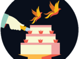 William Weasley and Fleur Delacour's wedding cake