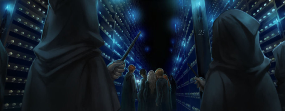 Death Eaters attacking Department of Mysteries - Pottemore moment.jpg