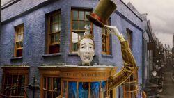 Exterior of Weasleys Wizards Wheezes shop.JPG