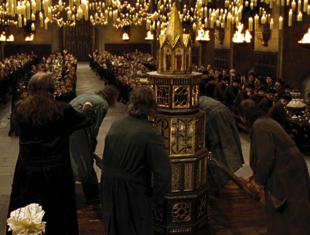 Goblet of Fire casket carriers