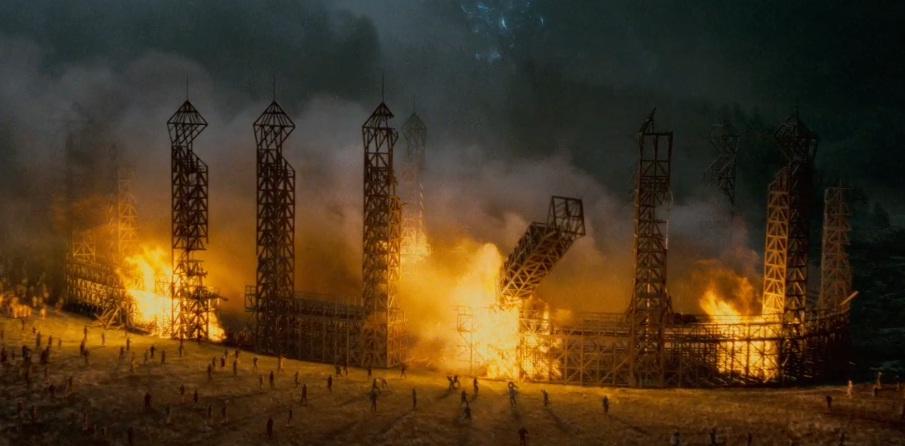 Burning of the Hogwarts Quidditch pitch