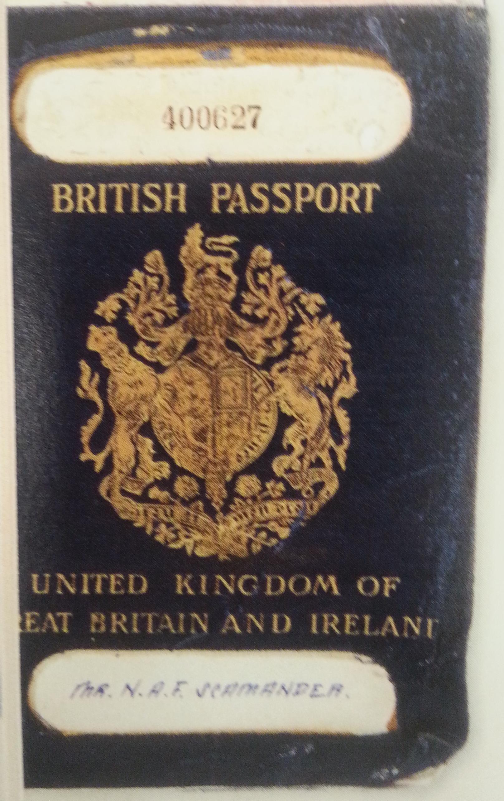 Newton Scamander's passport