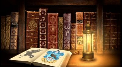 Books at Hogwarts Library Restrictred Section.JPG