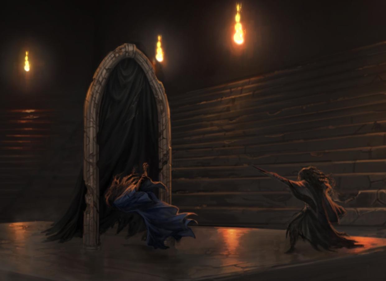 Bellatrix Lestrange's unidentified spell