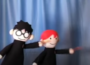 Harry and Ron casting Pantalonius Poopicus