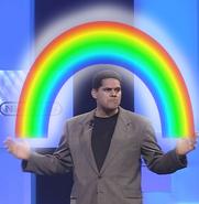 Reggie can make rainbows