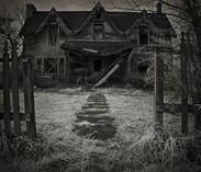 Creepy broken house