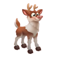 Brown Reindeer Calf