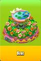 Pedestal Level 5 Pedestal Floral Pink Daisies Pink Floral Golden Daisies Orange Birdbath Blue