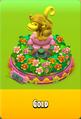Pedestal Level 5 Pedestal Floral Pink Daisies Pink Floral Golden Daisies Orange Monkey Gold