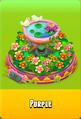 Pedestal Level 5 Pedestal Floral Pink Daisies Pink Floral Golden Daisies Orange Birdbath Purple