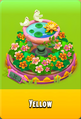 Pedestal Level 5 Pedestal Floral Pink Daisies Pink Floral Golden Daisies Orange Birdbath Yellow