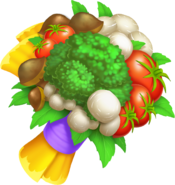 HayDay flower shop veggie bouquet